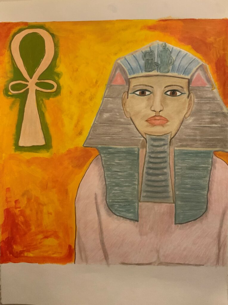 Art work of Hatshepsut, pharaoh of Egypt, Empress of the Lilith Tarot